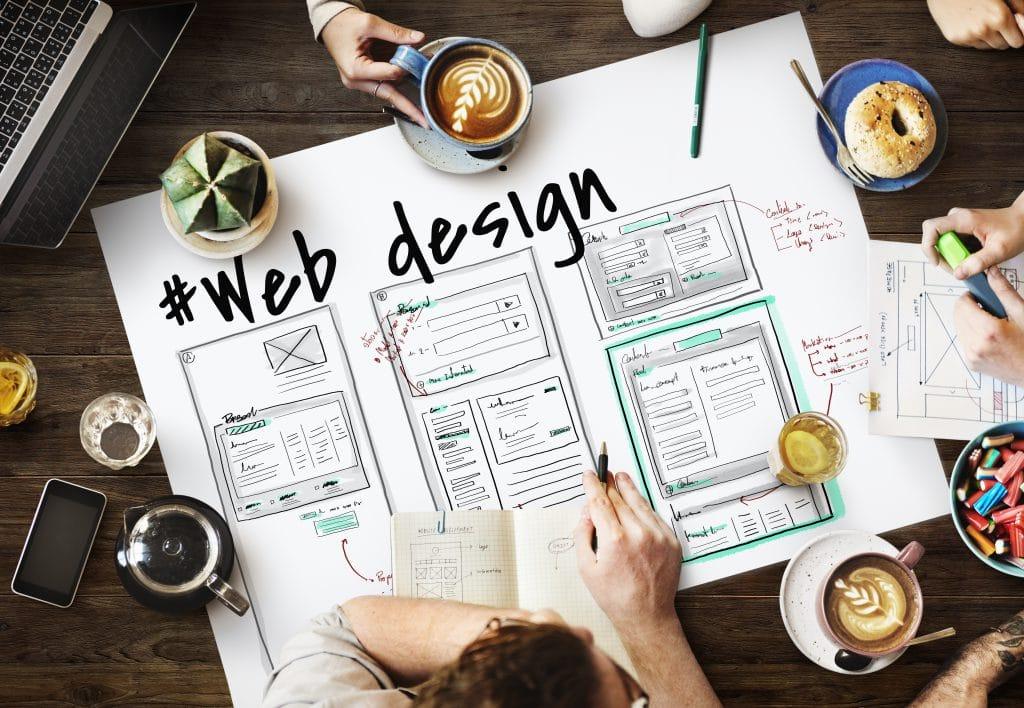 web design plan written on paper